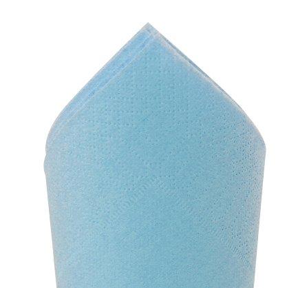 Serviette 38x38cm Bleu caraibes
