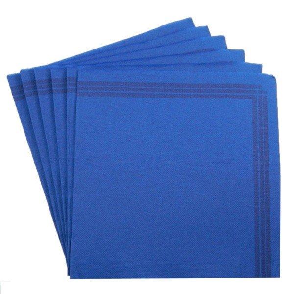 Serviette 38x38 TENDANCE Bleu vif + liseré