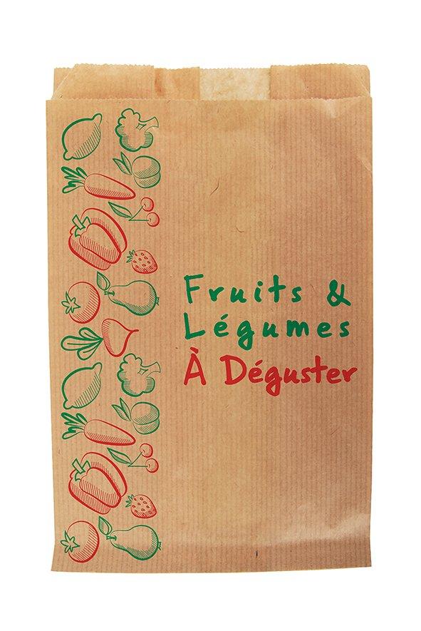Sac Papier Fruits & Légumes 17+6x26 - 1Kg