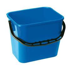 Seau Rectangulaire Bleu 12 L pour chariot