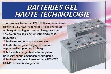 Batterie Type gel 12V/100 AHR Pour Autolaveuse Numatic