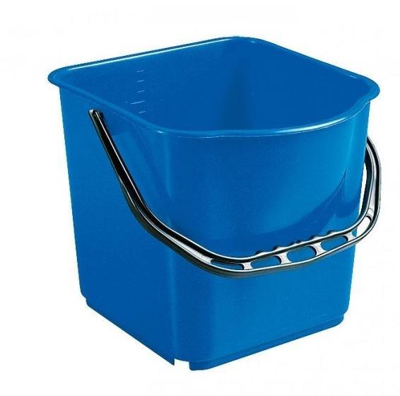 Seau Carré Bleu 15 L pour chariot
