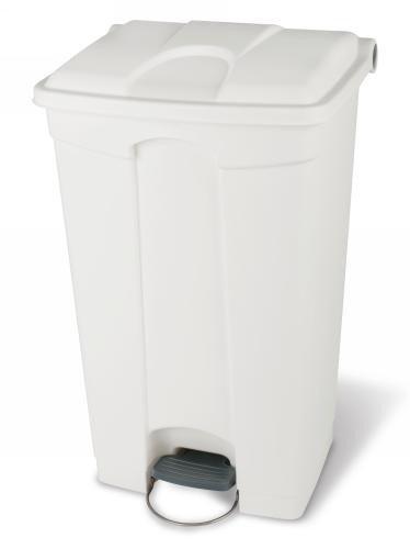 Collecteur de déchets à pédale 45L Blanc HACCP