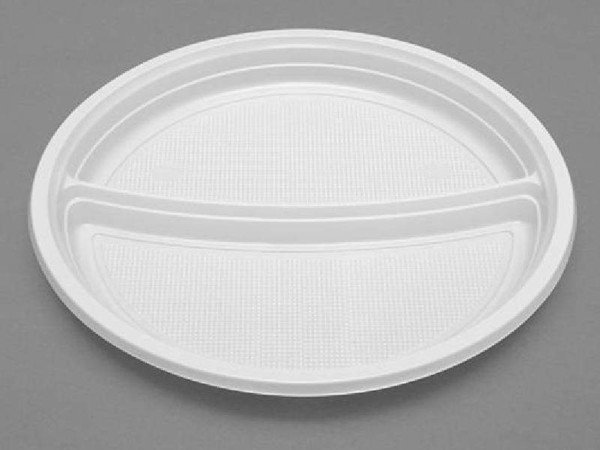 Assiette Plastique 22 cm 2 Compartiments