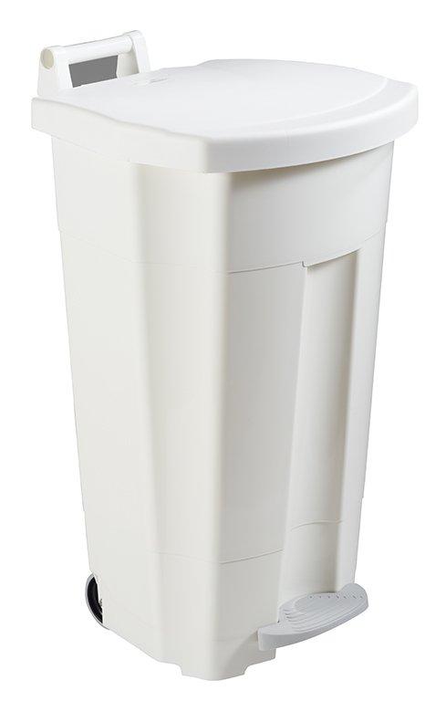 Collecteur de déchets à pédale 90L Blanc HACCP R