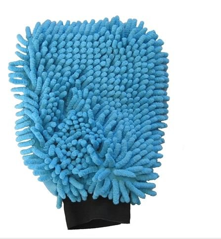 Gant Microfibre 2en1 Bleu