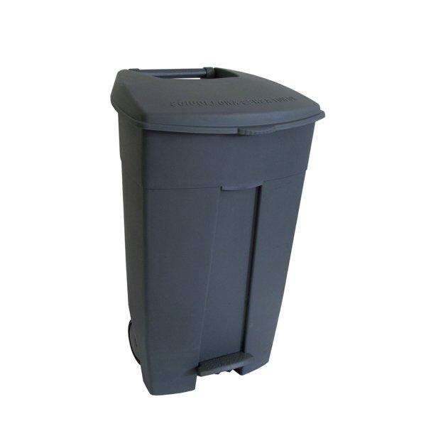 Collecteur de déchets à pédale 120L Gris HACCP