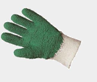 Gant Jardin latex crêpé vert Taille 7