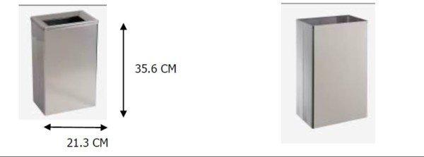 Corbeille INOX Inomur 25L