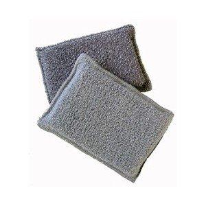 Eponge grattante biface microfibre grise 13 x 9 cm