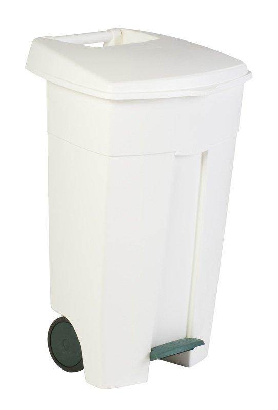 Collecteur à pédale 125L – Blanc