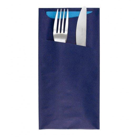 Pochette à Couvert Bleu + Serv Turquoise