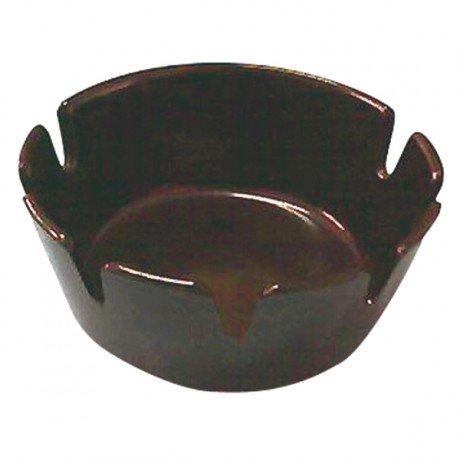 Cendrier de table mélamine noir 10 cm