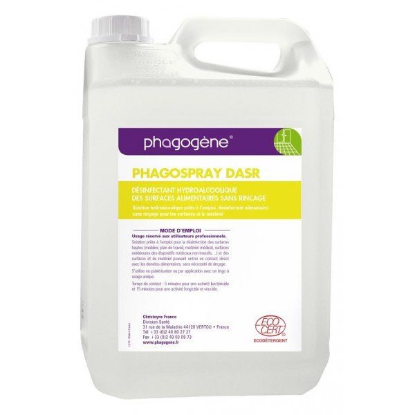 PHAGOSPRAY DASR Désinfectant Sans Rinçage Ecocert