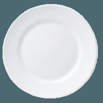 Assiette plate blanche Ø235mm ''RESTAURANT''