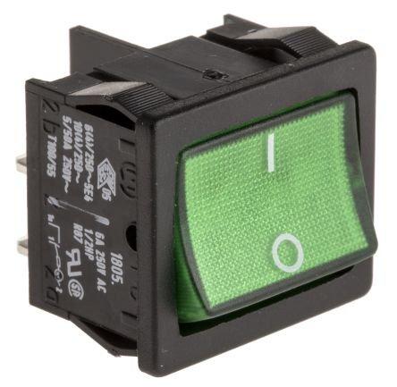 Interrupteur noir et vert (marche/arrêt)