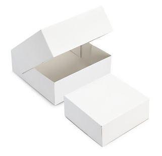 Boîte patissière blanche 18 x 8