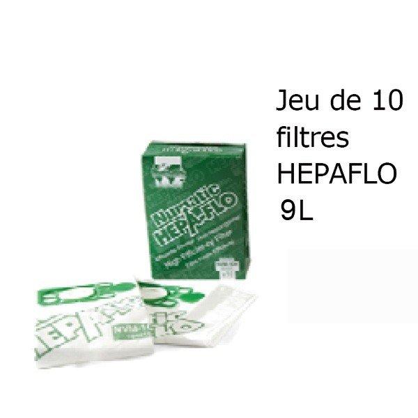 10 Sacs Aspirateur Microfibre Nupro 9L