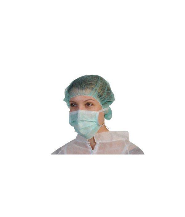 Masque vert 3 plis