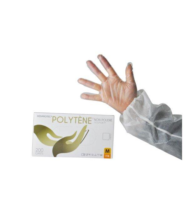 Gant jetable Non poudré polytène neutre