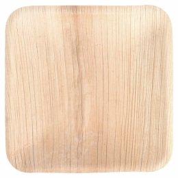 Assiette feuille palmier 15x15cm