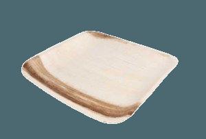 Assiette feuille palmier 24x24cm