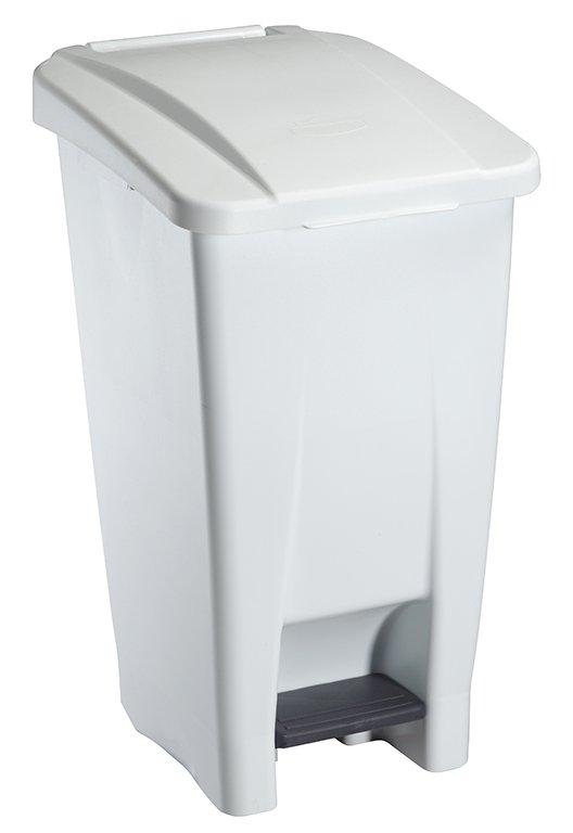 Collecteur de déchets à pédale 60L Blanc HACCP