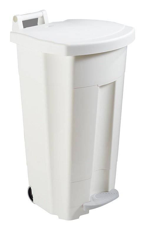Collecteur de déchets à pédale 120L Blanc HACCP R