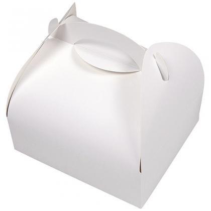 Boite à poignée blanche 10,5 x 10,5 x 5 cm