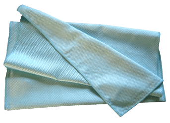Torchon Microfibre Bleu Spécial Verres 40x75 cm - Paquet de 3.