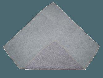 Torchon Microfibre Gris Spécial Verres 40x75 cm - Paquet de 3 unités.