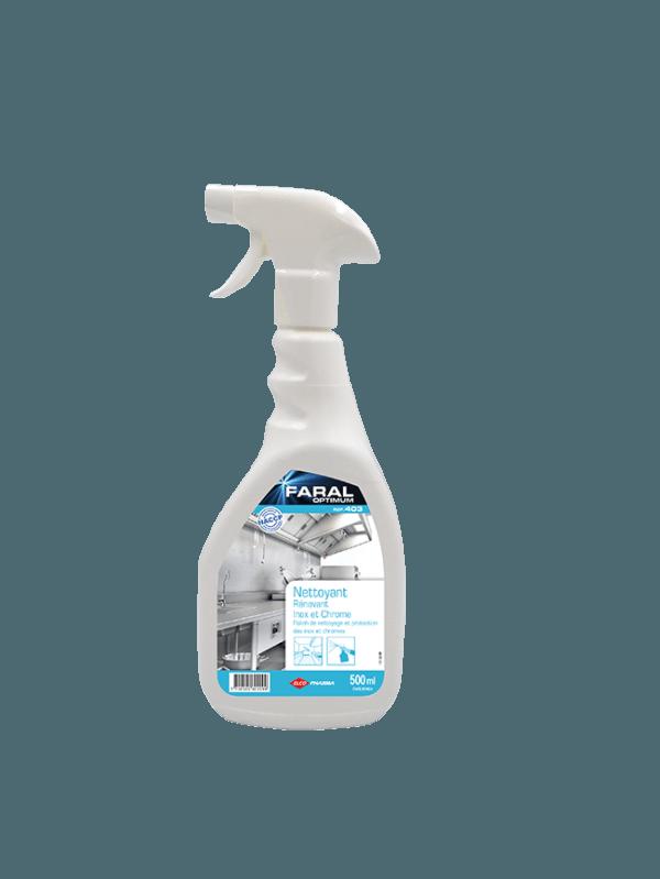 FARAL OPTIMUM 403 Inox fait briller les surfaces en inox