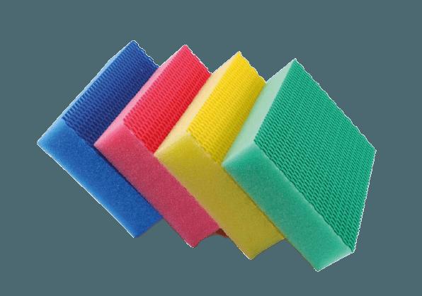 Eponge Color Clean HACCP Jaune Rouge Bleu Vert