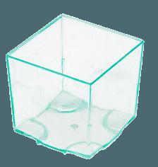 Verrine Cube empilable vert d'eau