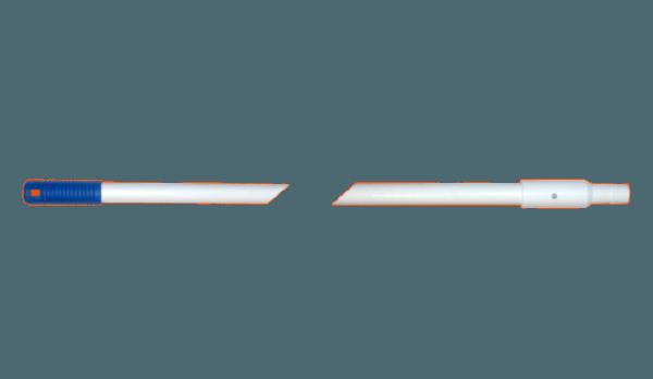 Manche Alimentaire Blanc en fibre de verre à Vis 140 cm