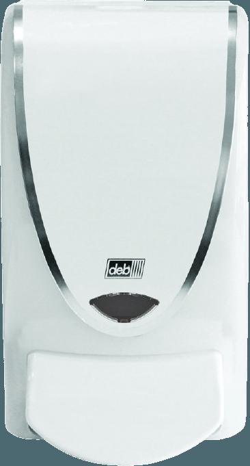 Distributeur Mousse Blanc + Chrome