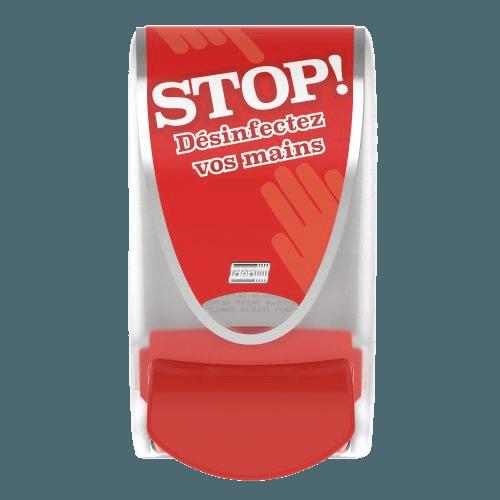 Distributeur Mousse Désinfection Rouge