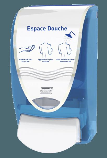 Distributeur Savon Douche Bleu