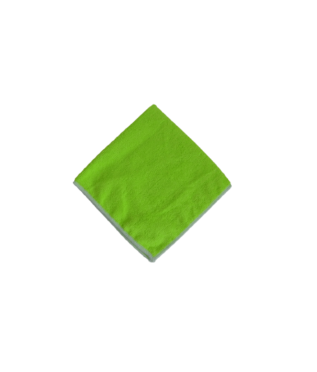 Lavette Microfibre Verte 230g - Paquet de 5 unités.