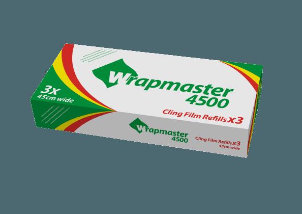 Film Alimentaire Wrapmaster 0.45x300 m - Carton de 3 unités.