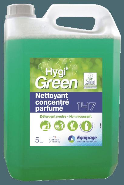 HYGI'GREEN 147 Nettoyant Parfumé sols,surfaces ECOLABEL
