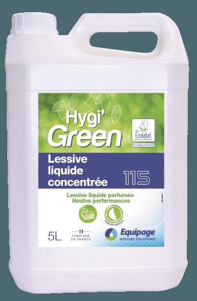 HYGI'GREEN 115 Lessive Liquide Ultra-Concentrée ECOLABEL.