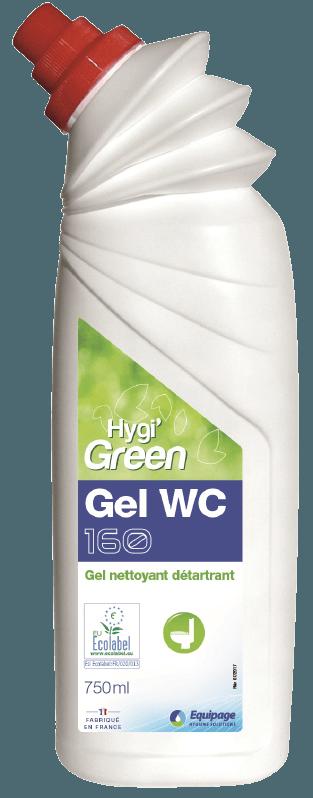 HYGI'GREEN 160 Gel Nettoyant Détartrant WC ECOLABEL