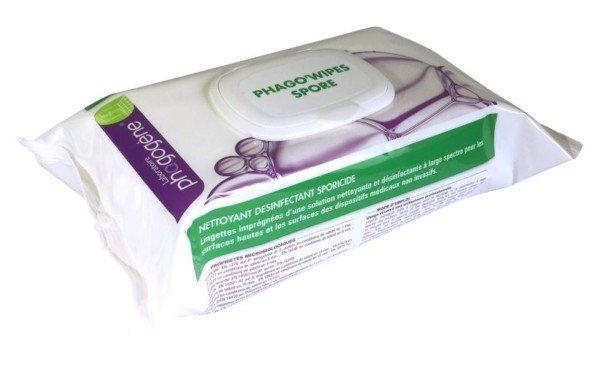 Lingettes Phago'wipes spore virucide