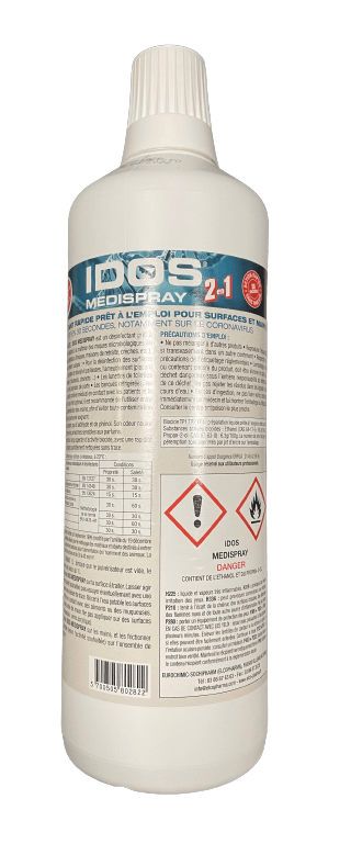 IDOS MEDISPRAY Désinfectant Virucide Mains et Surface 1L.