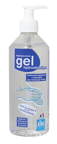 Gel Hydro-alcoolique King 500 ml.