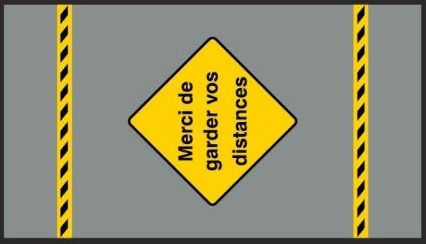 Tapis de distanciation 85 x 150 cm